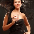 Stock Photo: Woman with cocktail
