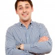 Happy man in casual wear - Stock Photo