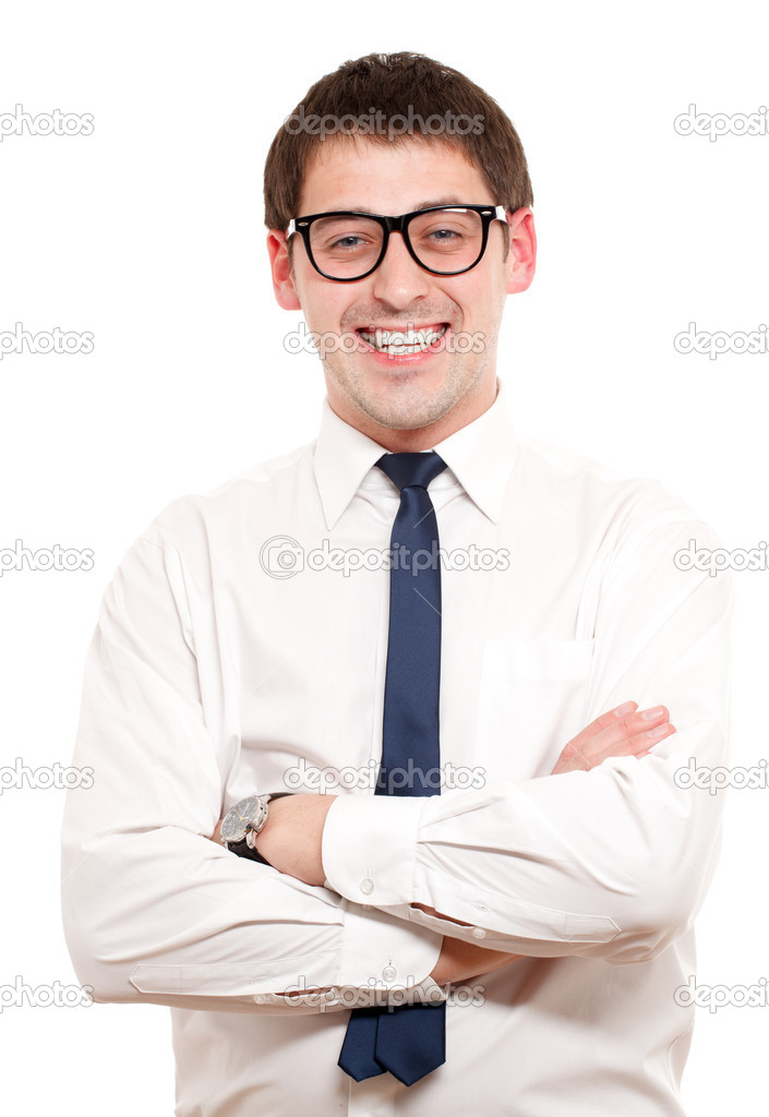 Positive man. Isoalated over white. — Stock Photo #5029172