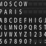 Vector mechanical alphabet. Eps 10 — Stock Vector