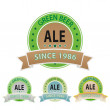 Stock Vector: Set os ale labels