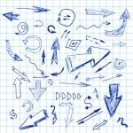 Doodle arrows — Stock Vector