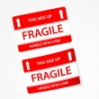 Stock Vector: Fragile stickers