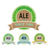 Set os ale labels — Stock Vector