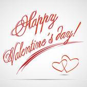 Happy Valentine's day text — Stockvektor