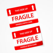 Fragile stickers — Stock Vector