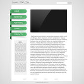 Template page web design — Stock Vector