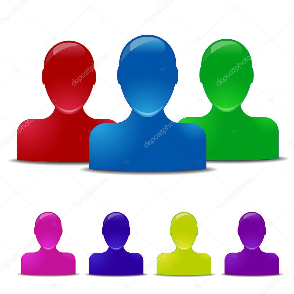 3d Human Icon Vector Colored Human Icons Vector