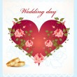 Stock Vector: Wedding card