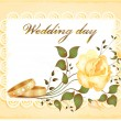 Wedding card — Vector de stock