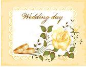 Hochzeit karte — Stockvektor