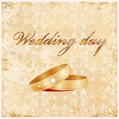 Carta di matrimonio vintage — Vettoriale Stock