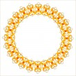 Royalty-Free Stock ベクターイメージ: Gold necklace with diamonds