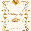 Wedding card — Stock Vector #4097107