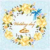 婚礼卡 — 图库矢量图片