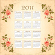 Vintage calendar 2011 with floral frame — Stock Vector #4184804