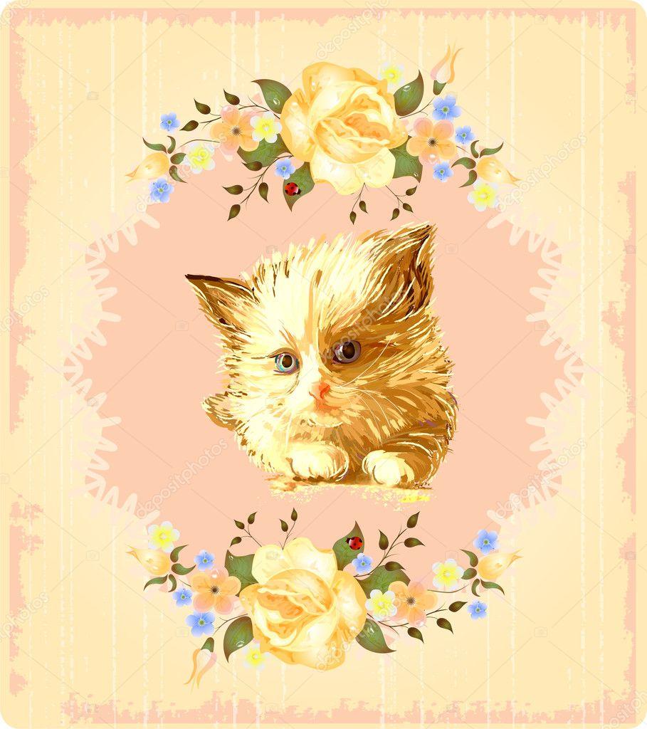 Открытки с изображением кошки