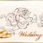 Vintage wedding card. — Stock Vector