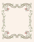 Vintage floral frame with tulips — Stock Vector