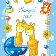 Stockvector : Baby arrival announcement card