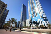 Modern skyscrapers in Sharjah. — Stock Photo