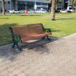Bench on the street. - Stock Photo
