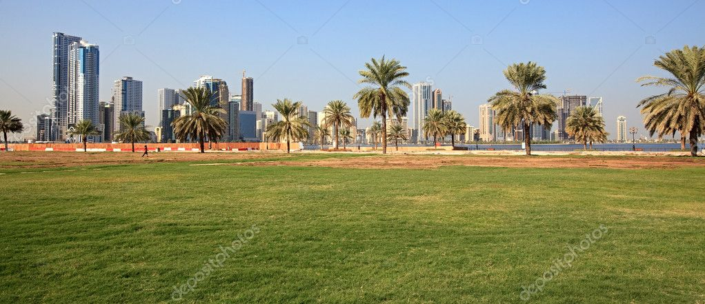 Urban landscape. Modern Sharjah. UAE.  Stock Photo #4752083