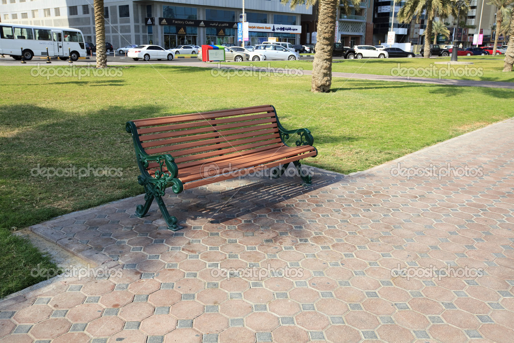 Bench on the street. Sharjah. UAE. — Stock Photo #4752402