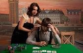 Losing at poker. — Stock Photo