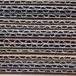 Corrugated stacked cardboard - Stock Photo