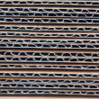Corrugated stacked cardboard — Foto Stock