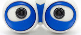 Eyes of the robot. A white robotic eyes looking — Stock Photo