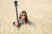 Rocking girl — Stock Photo
