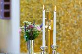 Two wedding candle — Stock Photo