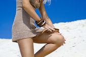 Sexy Girl on the Beach — Stock Photo