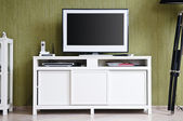 TV-set in home interior — Stock Photo