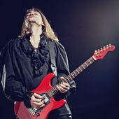 Rock-star playing a concert — Stock Photo