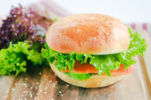 Lunchtime Burger — Stock Photo