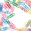 Colored paper clips - Foto de Stock  