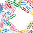 Colored paper clips - Lizenzfreies Foto
