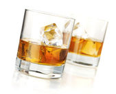 Two whiskey glasses — Stock Photo