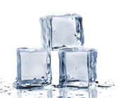 Three ice cubes — 图库照片