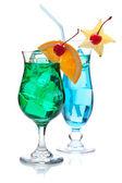 Dvě tropické koktejly — Stock fotografie