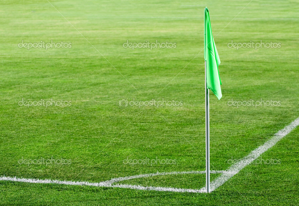 Corner flag on an soccer field — Stock Photo #3923380