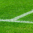 White line on a soccer field grass — Stock Photo #3978172