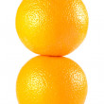 Two oranges isolated on white background — Stock Photo