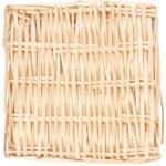 Decorative strawy basket isolated on white — Stock Photo #4290037