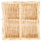 Decorative strawy basket isolated on white — Stock Photo