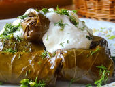 Vine leaves stuffed — Stock Photo