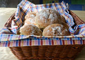 Baked bread balls — Stock Photo